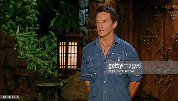 S BEACH WAIKIKI NOVEMBER 18 Big Bad Wolf Jeff Probst at Tribal Council during the tenth episode of SURVIVOR BLOOD vs WATER Wednesday Nov 20 on the...