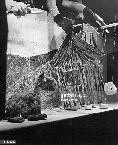 1976 DEC 15 1976 DEC 22 1976 Big Bad Wolf spots pig behind house in Marionette show