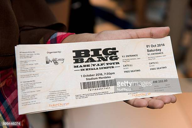 Big Bang concert ticket in Kuala Lumpur Malaysia on September 4 2016 KPOP star Big Bang concert will be held on Oct 1st at Stadium Merdeka in Kuala...