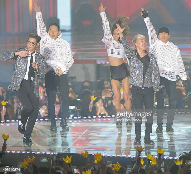Big Bang perform onstage during the 2015 Melon Music Awards at Olympic Park on November 7 2015 in Seoul South Korea