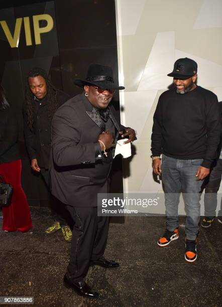 Big Bank Black and Alex Gidewon attend 'No Cap' Tuesday The Biggest Party Of The Year at Gold Room on January 16 2018 in Atlanta Georgia