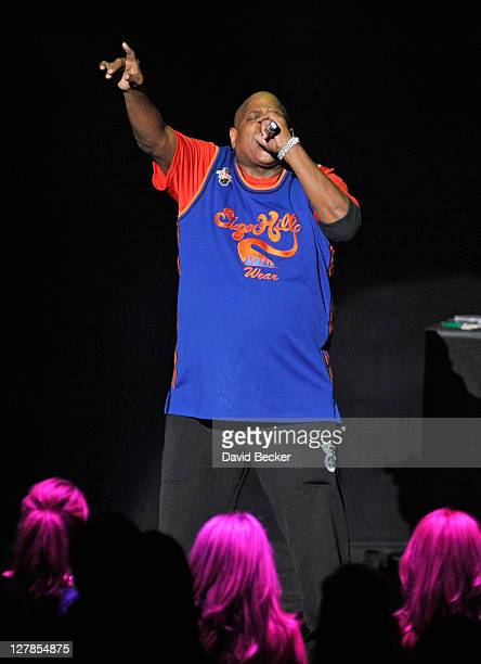 Big Bank Hank of Sugarhill Gang performs at the Justin Timberlake and Friends Old School Jam at the Planet Hollywood Theatre for the Performing Art...