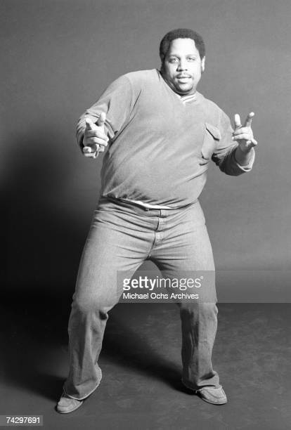 Big Bank Hank of the pioneering rap group the Sugar Hill Gang poses for a portrait at Sugar hill Records in January 1984 in Englewood New jersey