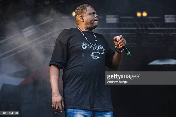 Big Bank Hank of The Sugarhill Gang performs on the Main Stage at Tramlines Festival on July 25 2015 in Sheffield United Kingdom