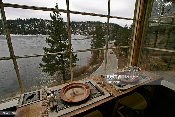Big Bear Lake Feb08 2007 A view of Big Bear Lake and North Shore Drive from the kitchen and dinning area of a house located along 200 block of North...
