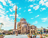big beautiful mosque sharm el-sheikh. Selective focus