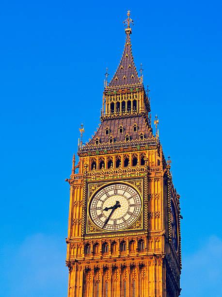 Big Ben against blue sky