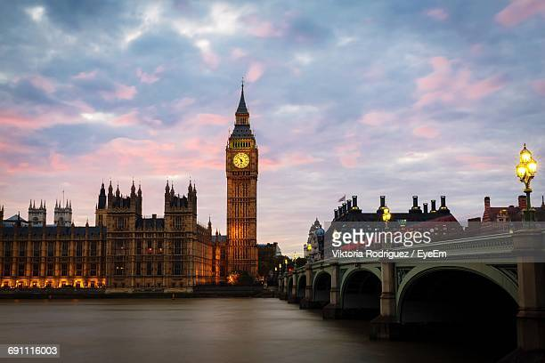 Big Ben Against Cloudy Sky During Sunset
