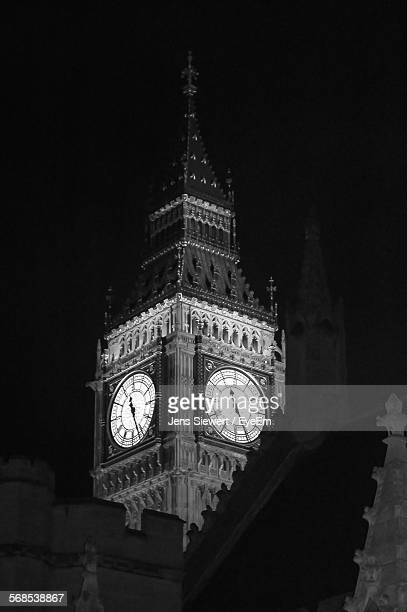 Big Ben Against Sky At Night
