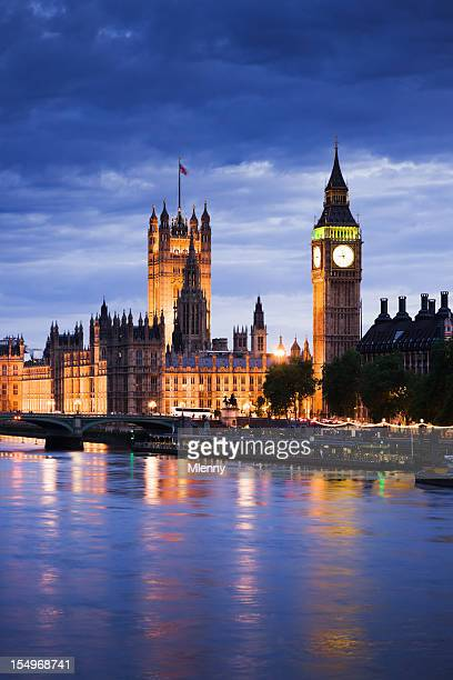 Big Ben and Houses of Pariament London River Thames Skyline