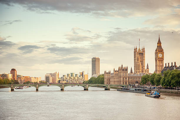 Big Ben And Houses Of Parliament, London River Thames Skyline Wall Art