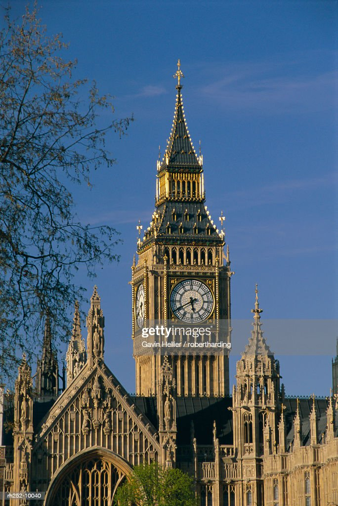 Big Ben and Houses of Parliament, UNESCO World Heritage Site, Westminster, London, England, UK, Europe : Foto de stock