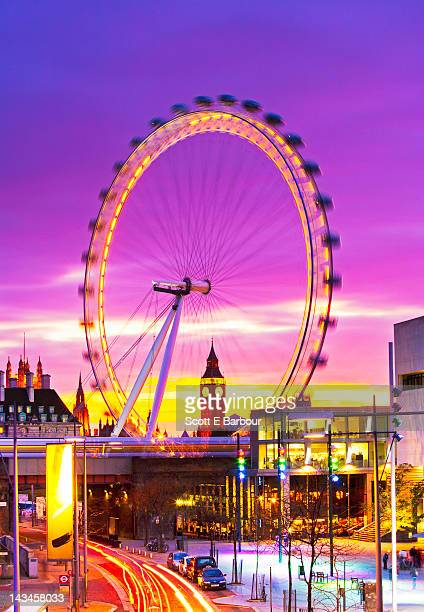 big ben and london eye - houses of parliament london stock pictures, royalty-free photos & images