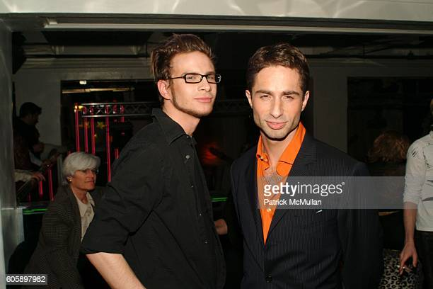 Big Ben and Michael Lucas attend AMANDA LEPORE DOLL After Party at Happy Valley on April 11 2006 in New York City
