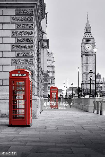 big ben and phone box - isolated color stock pictures, royalty-free photos & images