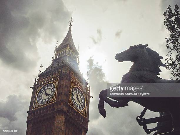 Big Ben And Statue Of Horse