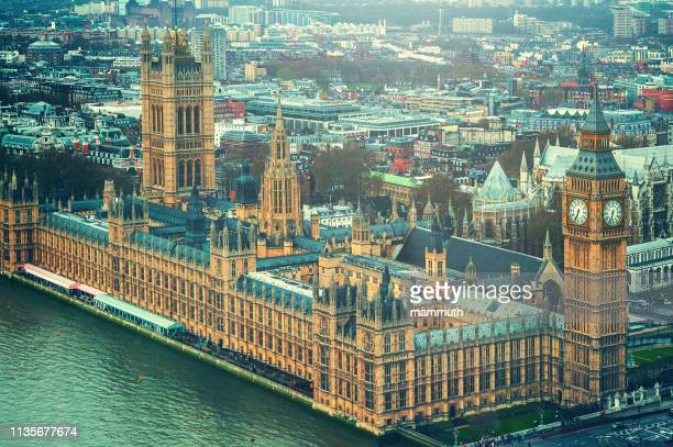 big ben and the house of parliament in london - parliament stock pictures, royalty-free photos & images