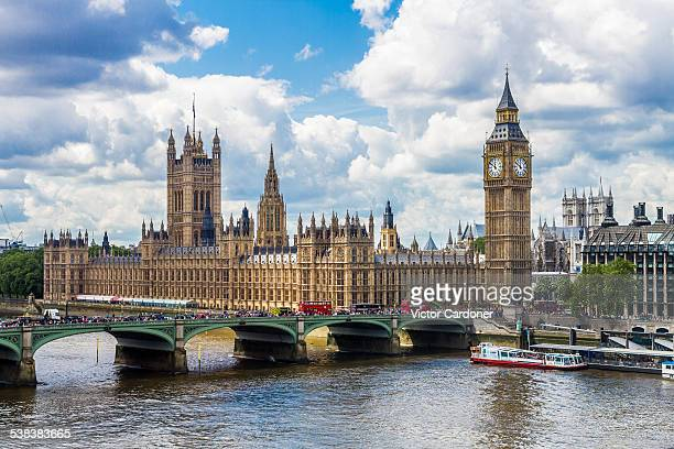 big ben and the house of parliament - london eye stock photos and pictures