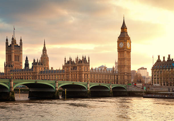 Big Ben And The Parliament In London At Sunset Wall Art