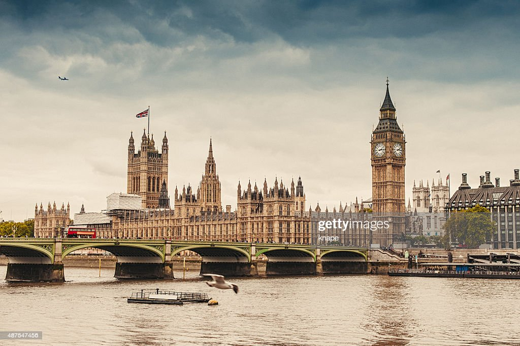 Big Ben and the Parliament in London : Stock Photo