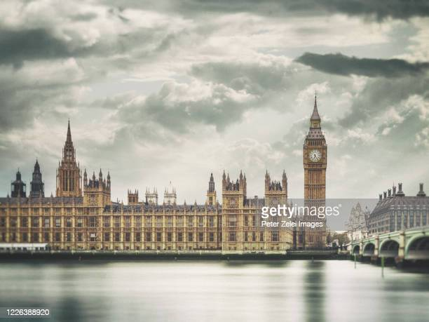 big ben and the westminster bridge - シティ・オブ・ウェストミンスター ストックフォトと画像