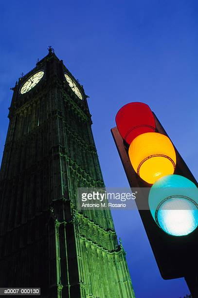 Big Ben and Traffic Lights