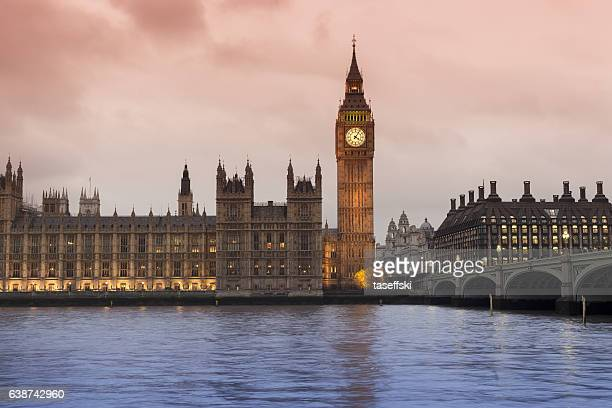 big ben and westminster bridge in london - city of westminster london stock pictures, royalty-free photos & images
