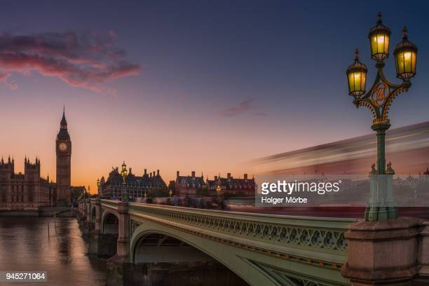 big ben and westminster bridge in the sunset - uk politics stock pictures, royalty-free photos & images