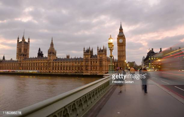 Big Ben at Westminster with The Houses of Parliament in London on September 12 2018 in London United Kingdom