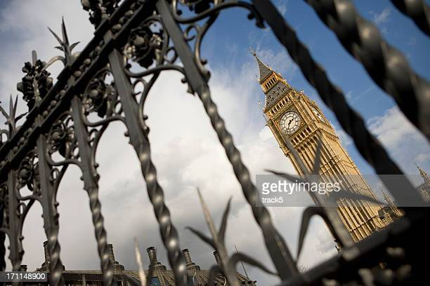 big ben behind bars - election stock pictures, royalty-free photos & images