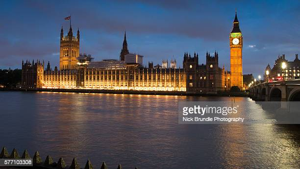 big ben by night, london, england - greater london stock pictures, royalty-free photos & images