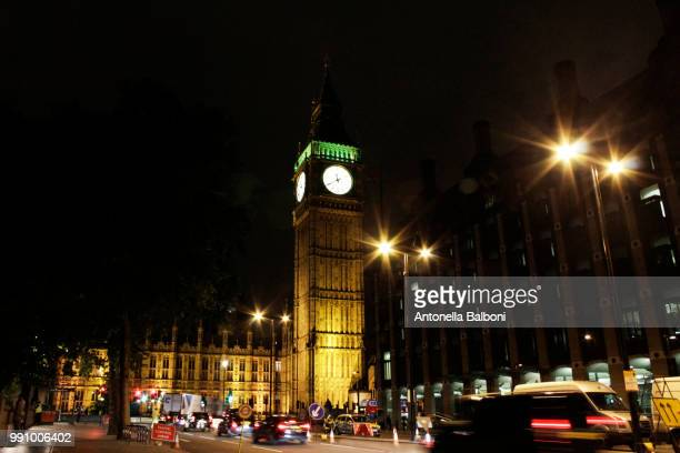 big ben by night - antonella stock photos and pictures