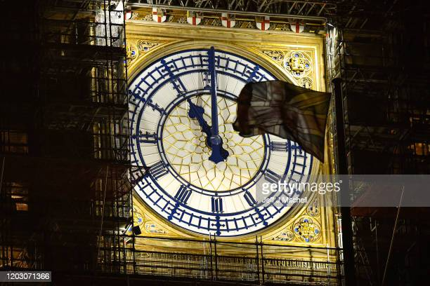 Big Ben clock face shows 1100pm twentyfour hours until the UK will no longer be a member of the European Union on January 30 2020 in London United...