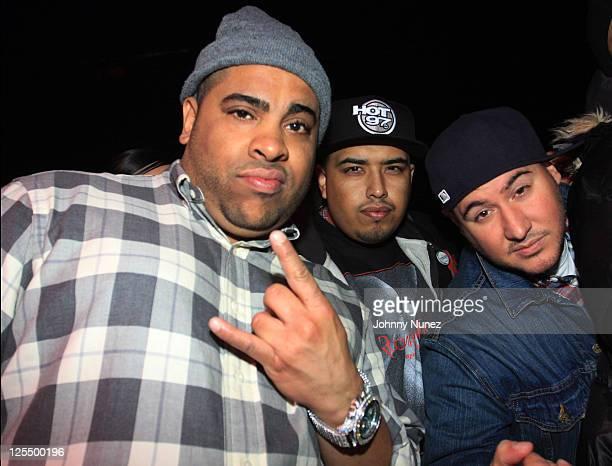 DJ Big Ben DJ Juanito and DJ Bobby Trends attend The Dipset Reunion at Hammerstein Ballroom on November 26 2010 in New York City