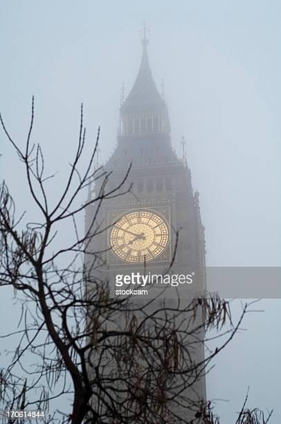 Big Ben in fog London