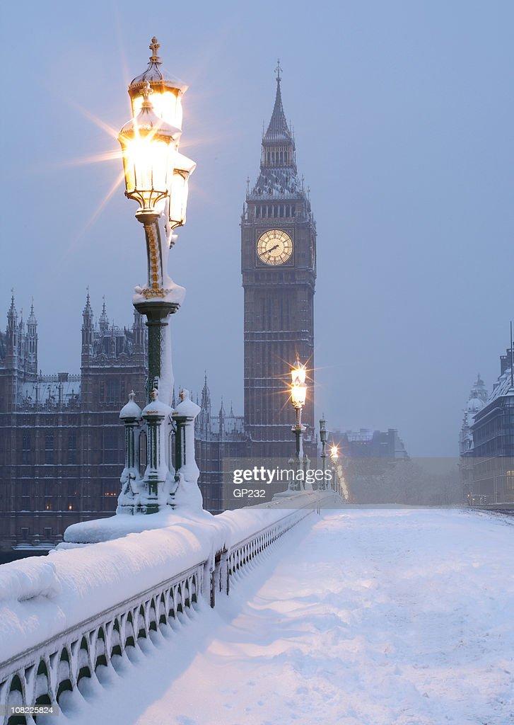 Big Ben in the Snow : Stock Photo