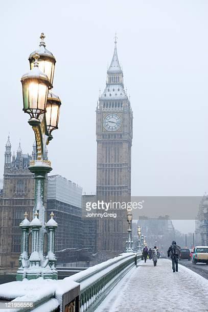 Big Ben in the snow