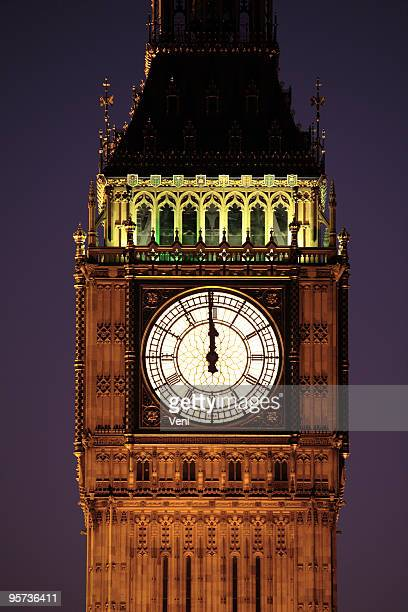 big ben, london - midnight stock pictures, royalty-free photos & images