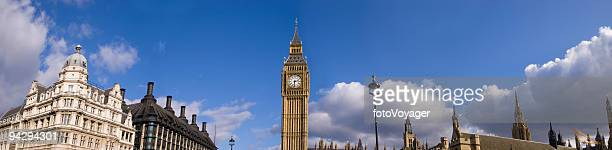 big ben panorama - parliament square stock pictures, royalty-free photos & images