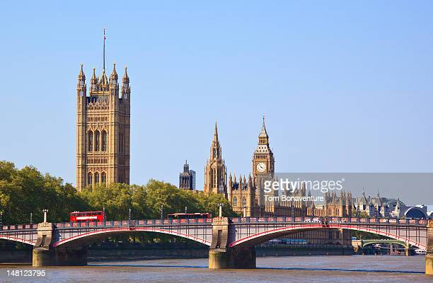 Big Ben, red buses and the Houses of Parliament