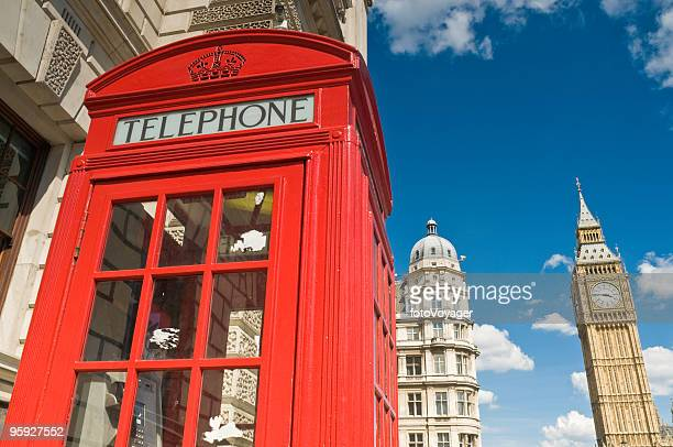 Big Ben red phone box London