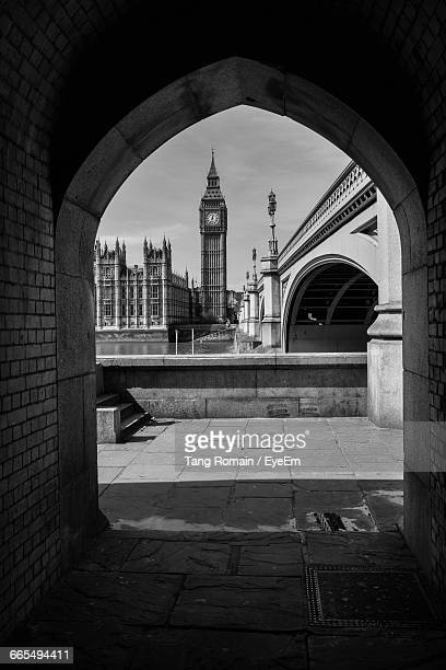 Big Ben Seen Through Archway