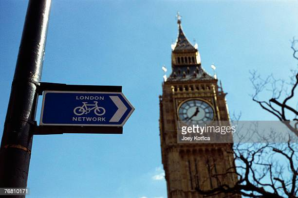 Big Ben with London Network bicycle sign