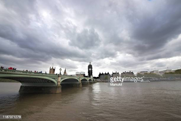 big ben with the thames river - london fashion week street stock pictures, royalty-free photos & images