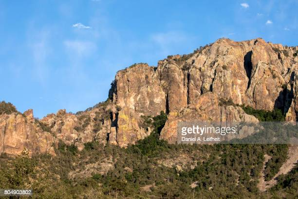 big bend national park landscape - chisos mountains stock pictures, royalty-free photos & images