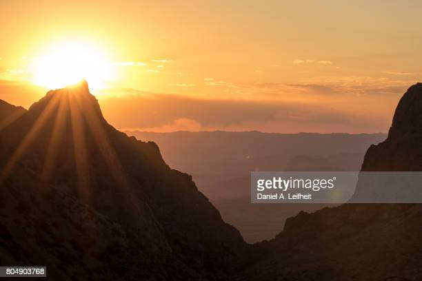 big bend national park sunset - chisos mountains stock pictures, royalty-free photos & images