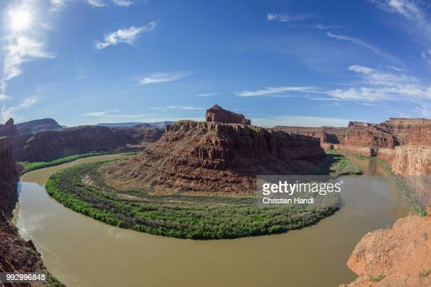 big bend of the colorado river, potash road, moab, utah, united states - potash stock pictures, royalty-free photos & images