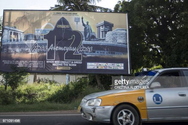 A big billboard in downtown Accra announces on June 10 the release of the documentary entitled 'Number 12' by investigative journalist Anas Aremeyaw...
