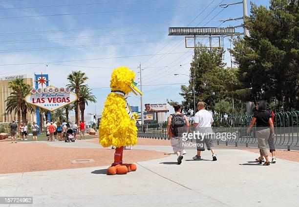 Big Bird at Welcome to Las Vegas sign