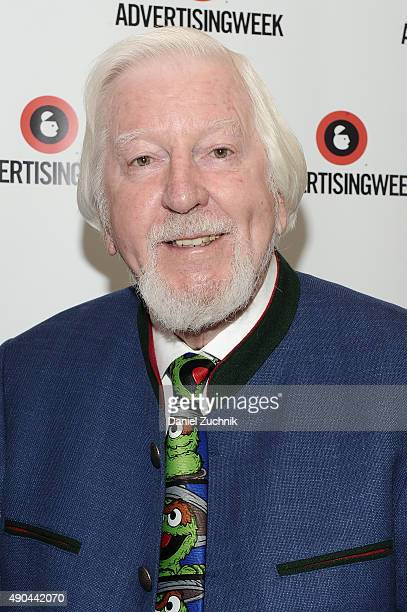 Big Bird Oscar the Grouch of Sesame Street's Caroll Spinney poses at the Enduring Stories A Bird's Eye View panel presented by DigitasLB during...